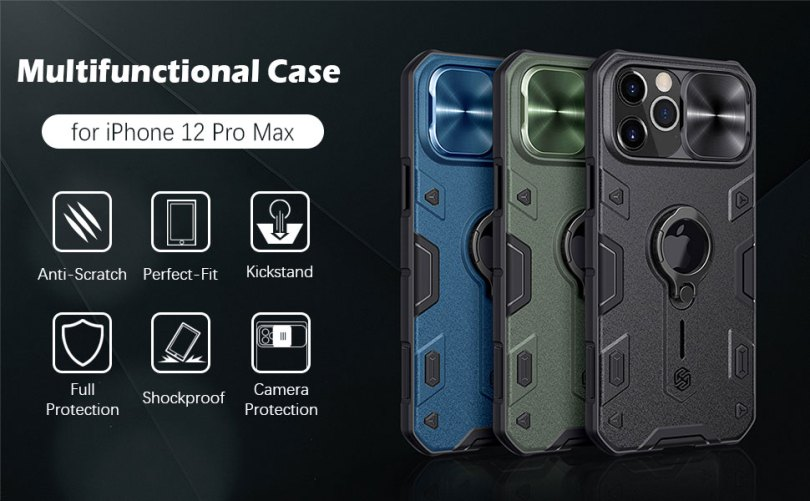 iPhone 12 Pro max case with ring stand