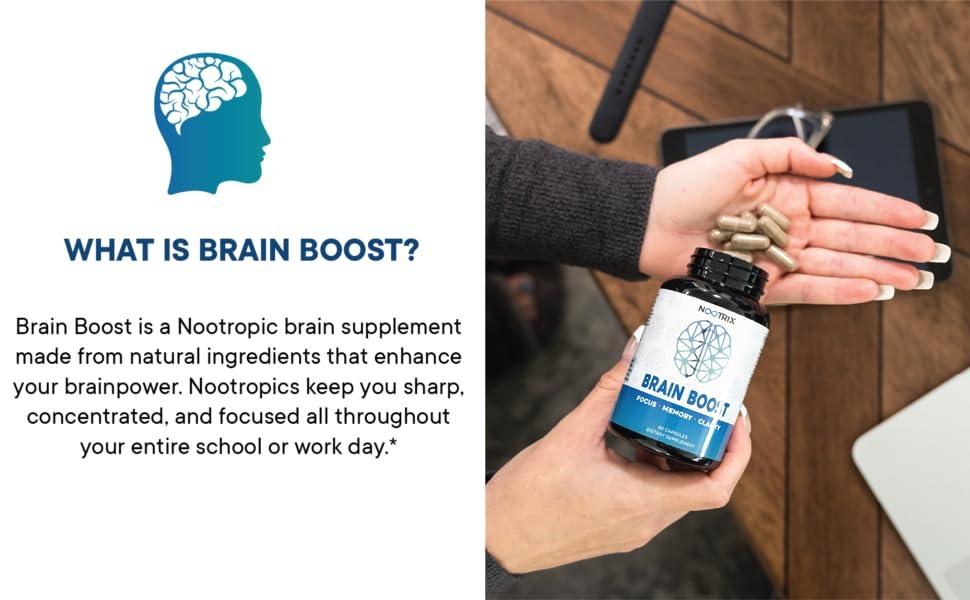 nootropics brain support supplement capsule booster memory clarity alert energy