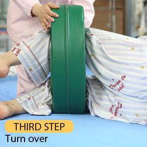 Third step Turn over