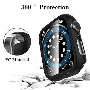 watch series 6 5 4 se 44mm 40mm watch case watch band full all around overall protection