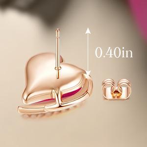 Heart Stud Earrings rose gold earring