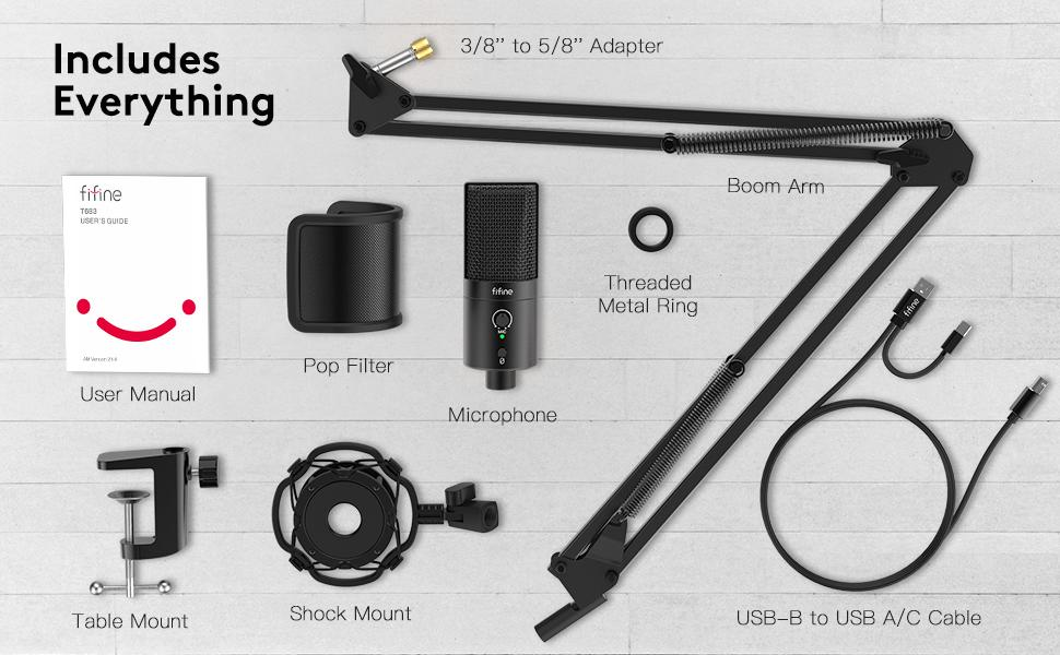 FIFINE usb microphone kit