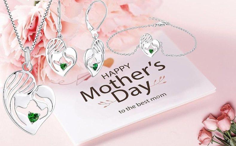 mom necklace mother pendant grandma earrings for women