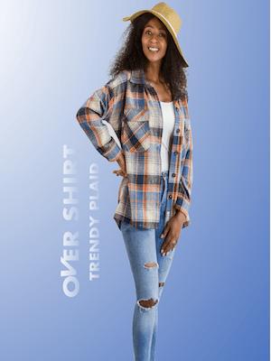 flannel overshirts women shacket plaid