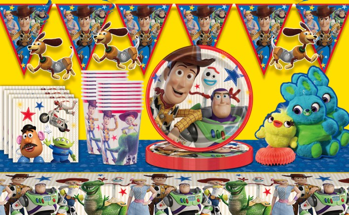 Toy Story 4 birthday party supplies supply woody buzz mr potato head plates cups tableware