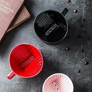 Pour Over Coffee Dripper - Ceramic Coffee Dripper, Brewing Coffee Maker Accessories