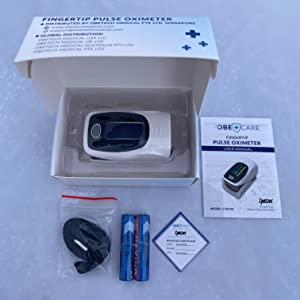 Pulse Oximeter Heart Rate Monitor Oxygen Saturation Levels Obecare