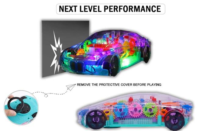 Transparent car 3D Concept Super Car Toy SPN-MX9E8
