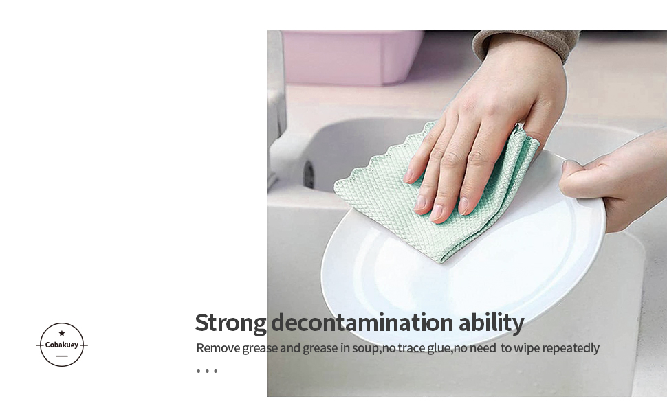 5.Fish Scale Microfiber Cleaning Cloth