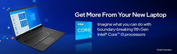 HP 15 11th Gen Intel Core i3 Processor get more from your new laptop