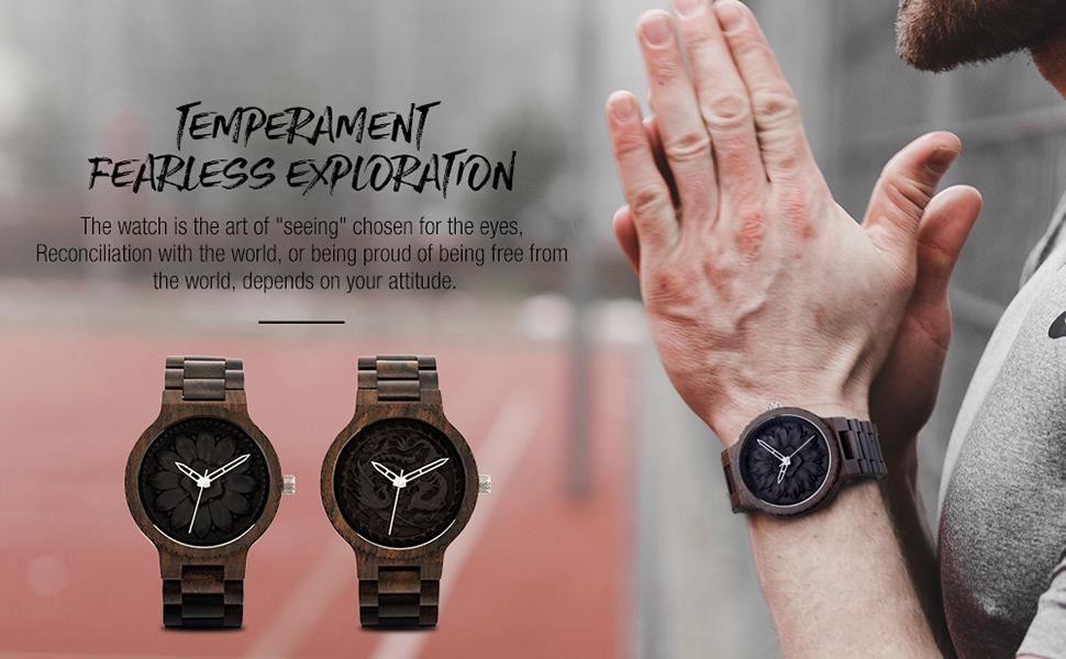 Retro Design Mens Quartz Wrist Watches Business Fashion Timepiece for Mens