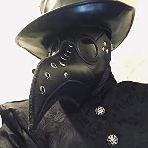 leaather plague doctor mask
