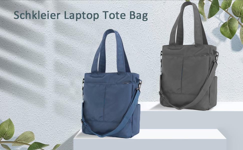 Schkleier laptop tote bag