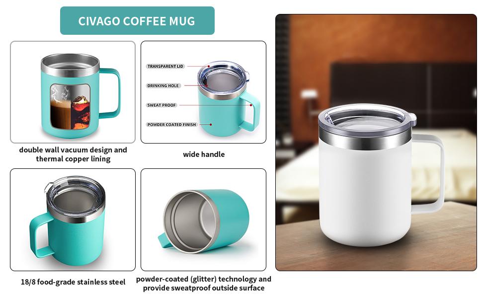 FEATURES OF CIVAGO COFFEE MUG