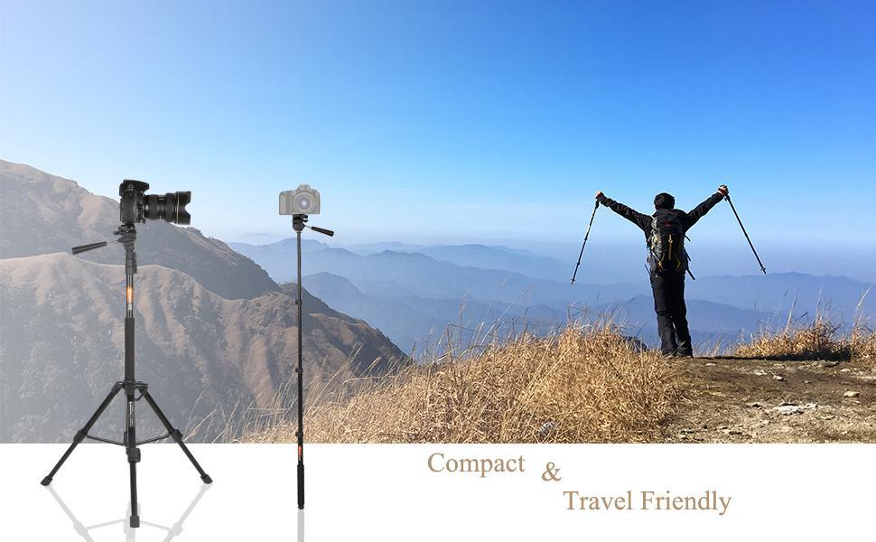 Travel camera tripod