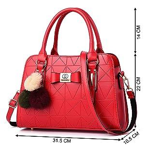 medium size handbag carry handbag women side bag red color purse for girl friend gift for love wife
