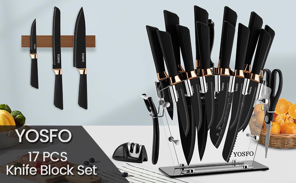 17Pcs Knife Block Set
