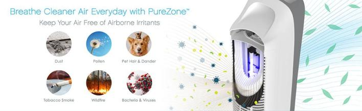 PureZone Elite 4-in-1 Air Purifier Filtration Stages