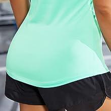 Slight high-low hem sports shirts for women