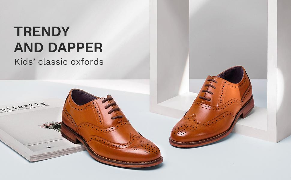 Lace-up construction and classic round toe design for personalized fit