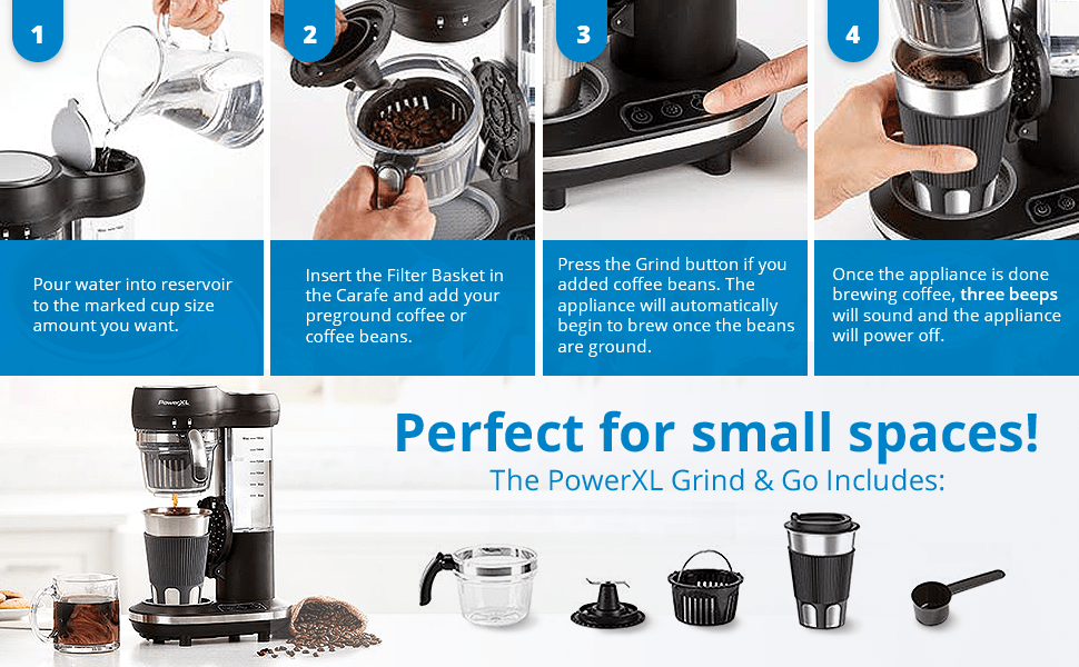 Perfect for small spaces! The powerxl grinder how-tos and step by steps