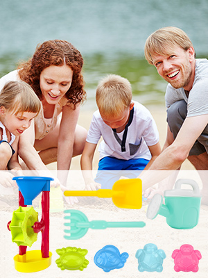 Enjoy a great family beach day with REAPP 8 Pcs Sand Toys Set
