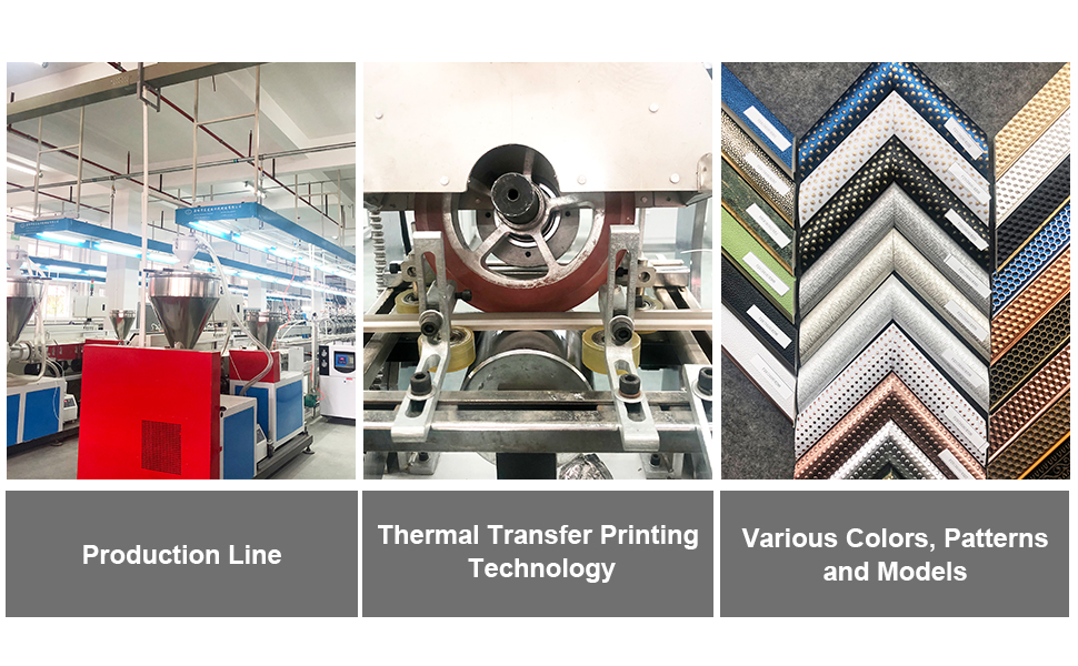 PS frame with thermal transfer printing