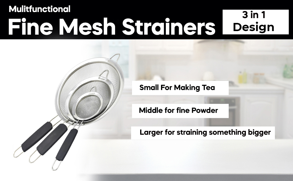 Makerstep Strainers