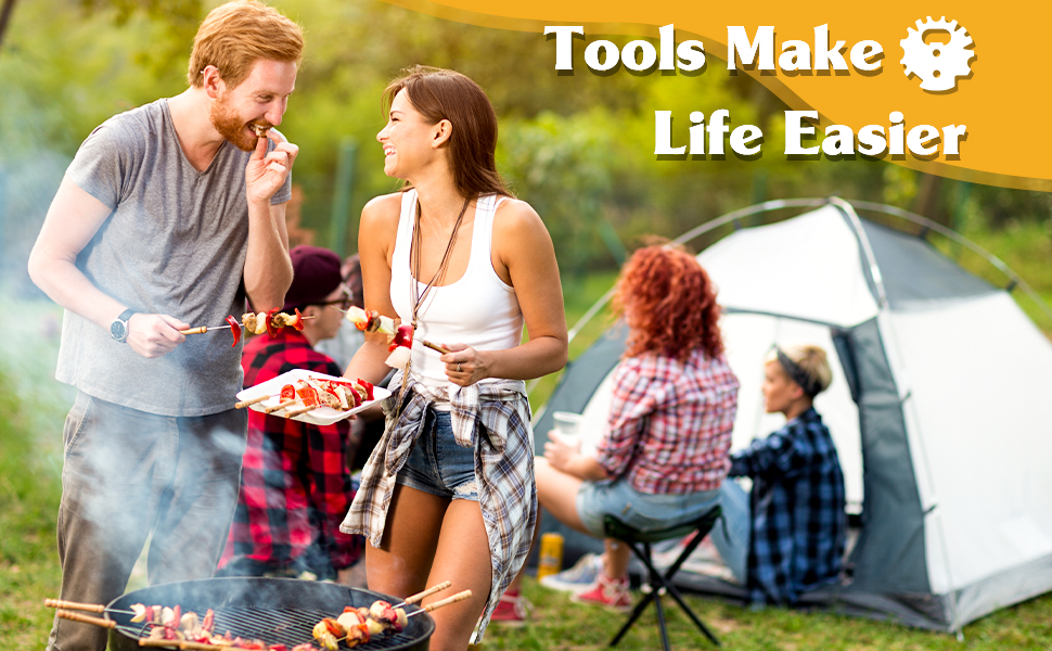 Grate Grilling Camping Accessories for Outdoor Indoor Grill, Kitchen Cooking Cleaning Gadgets