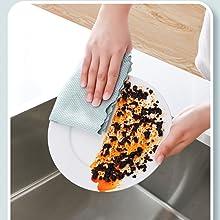 Dish cleaning cloth polishing cloth