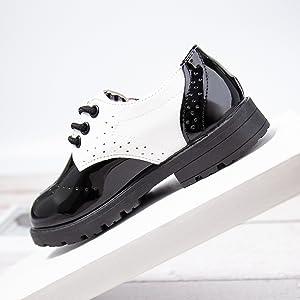 Boy's Girl's Classic School Uniform Comfort Oxford Dress Shoes Loafer Flats