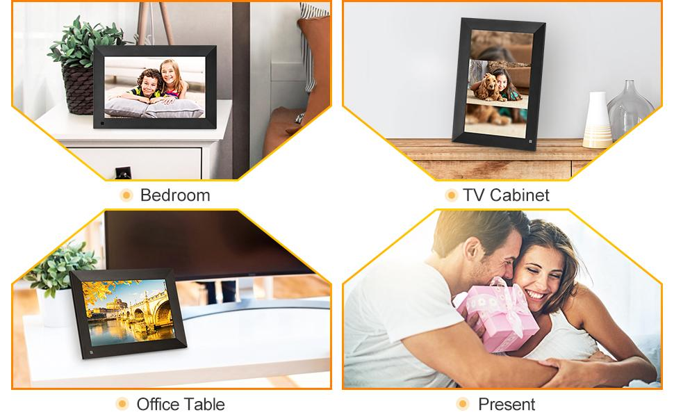 Place the digital photo frame