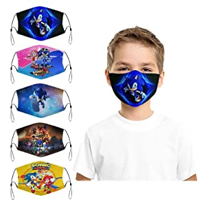 Kids Face Mask with 10 Filter Reusable Washable Anti Dust Face Cover Balaclava for Boys Girls