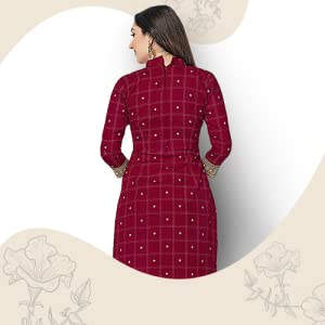 Miraan Women's Cotton Unstitched Dress Material SPN-FOR1