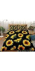 Black Gold Sunflower Bedding