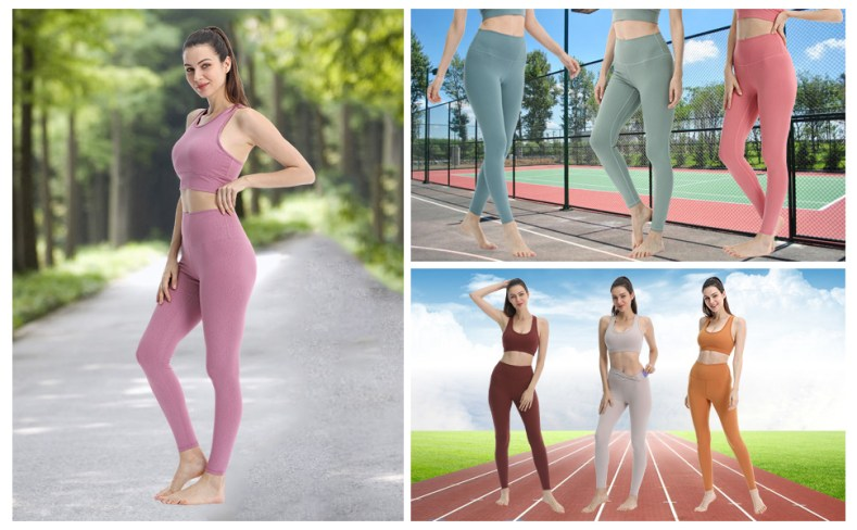 High Waisted Leggings Women Soft Tummy Control Pants 4 Way Stretch Leggings by QUEST NEW