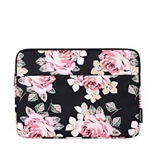 MVYNO black flower laptop sleeve bag