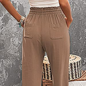 soft fabric is super comfortable in hot weather ,flowy pants can offer you cool wear experience