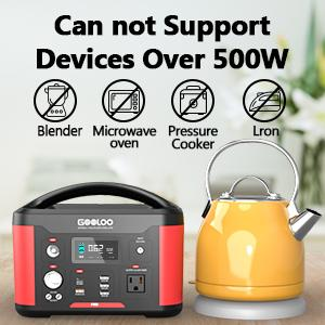 can not support devices over 500W