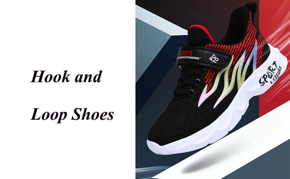 Dublcea Kid Shoes Slip on Running Shoes Athletic Sneaker for Boys Girls