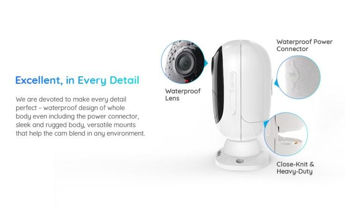 waterproof outdoor security camera