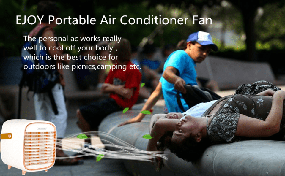 The portableair conditioner fan is  the best choice for outdooers.