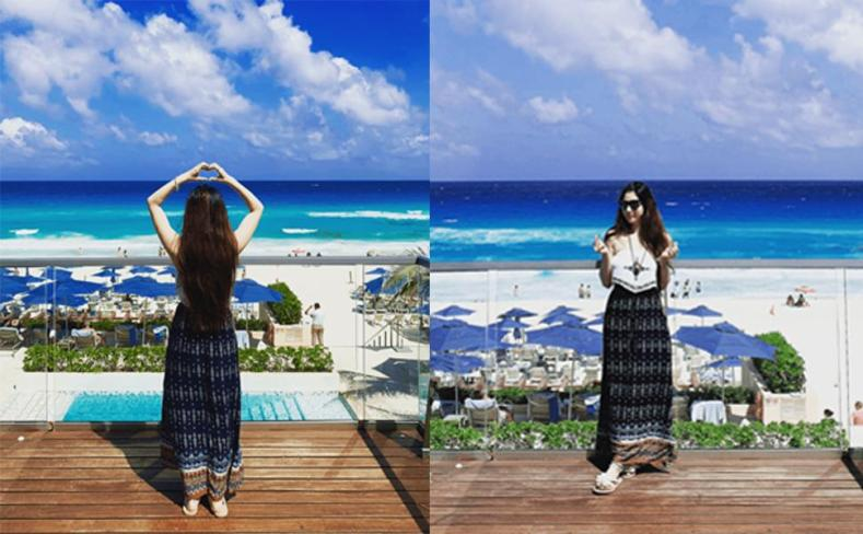 milumia women skirts boho bohemian vacation summer casual comfy pockets skirt