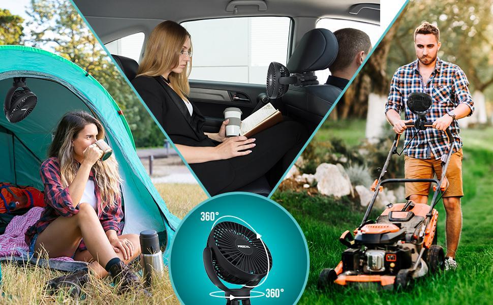 camping tent fan flexible tripod fan for car seat stroller