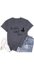 Womens Resting Witch Face Halloween Tee Shirt