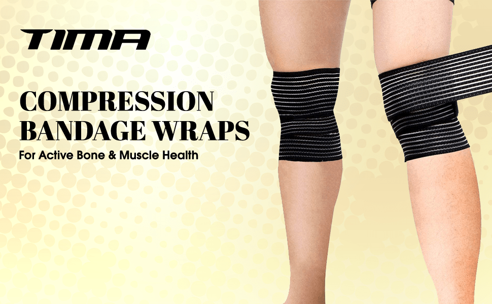 1117 Polyester Elastic Knee Compression Bandage Wraps Support for Legs, Thighs Wraps SPN-FOR1