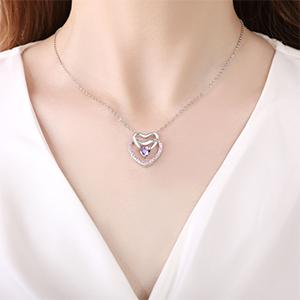 Birthstone Crystal Stones Charm Jewelry, Anniversary Mothers Day Birthday Gifts Ideas for Her/Women