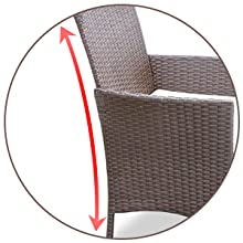 Ergonomic Rattan Chair Set