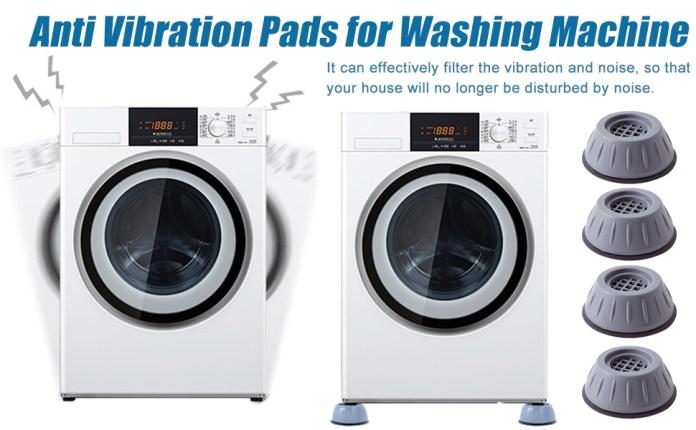 Fridge Washing Machine Leveling Feet Anti Walk Pads Shock Absorber Furniture Lifting Base