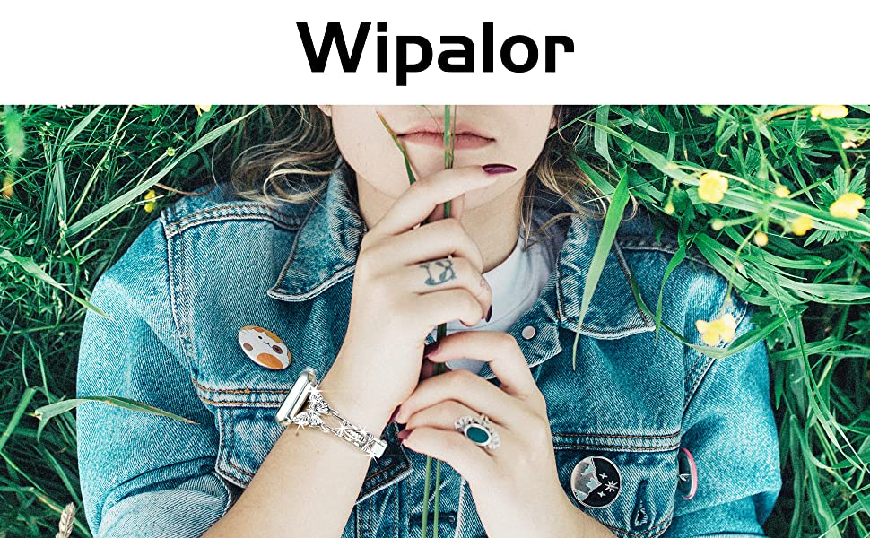 Wipalor Compatible with Apple Watch Band 38mm 40mm, Butterfly Jewelry Strap for iWatch